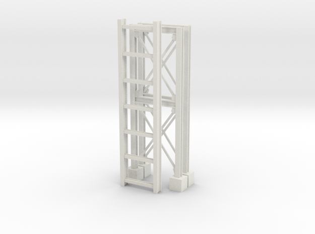 'S Scale' - Pipe Bridge in White Natural Versatile Plastic