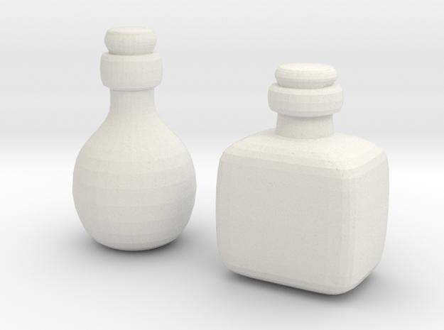Bottles (2x) in White Natural Versatile Plastic