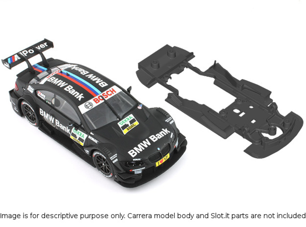 S02-ST2 Chassis for Carrera BMW M3 DTM STD/STD in Black Natural Versatile Plastic