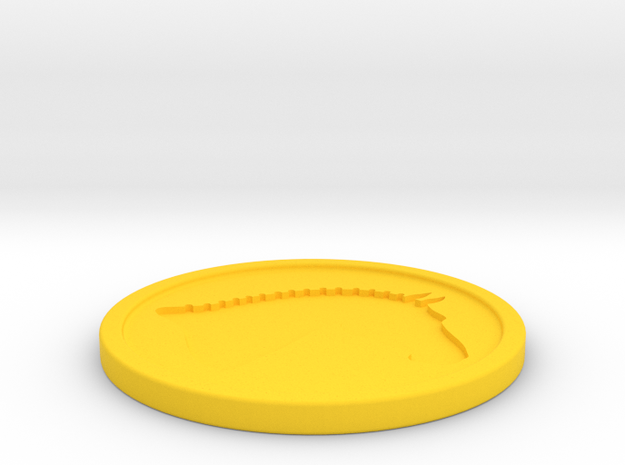 Branded Coaster (TheMarketingsmith) in Yellow Strong & Flexible Polished