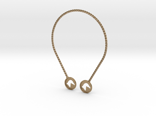 Branded Torc Style 1 in Polished Gold Steel