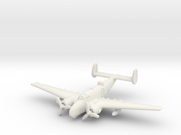 Lockheed PV-2 Harpoon 6mm 1/285 in White Natural Versatile Plastic