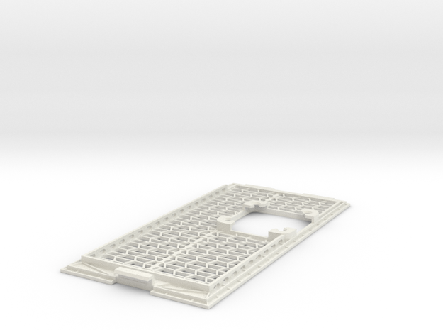 A1200 CPU Expansion Port Cover - With 40mm mount in White Natural Versatile Plastic