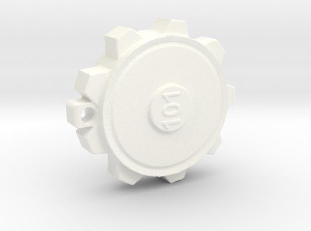 Vault 101 Door Keychain in White Processed Versatile Plastic
