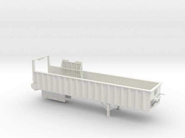 1/64 38' Silage Trailer in White Natural Versatile Plastic