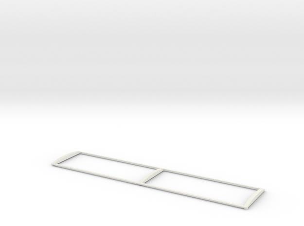 1/64 38' Silage Trailer Tarp Frame in White Natural Versatile Plastic