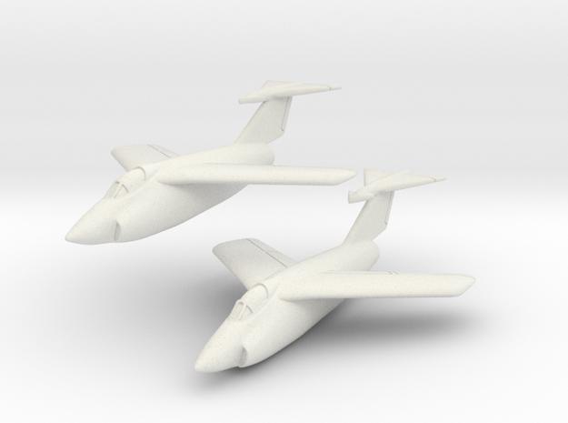 Grumman XF10F Jaguar (2 airplanes In Flight) 1/285 in White Natural Versatile Plastic