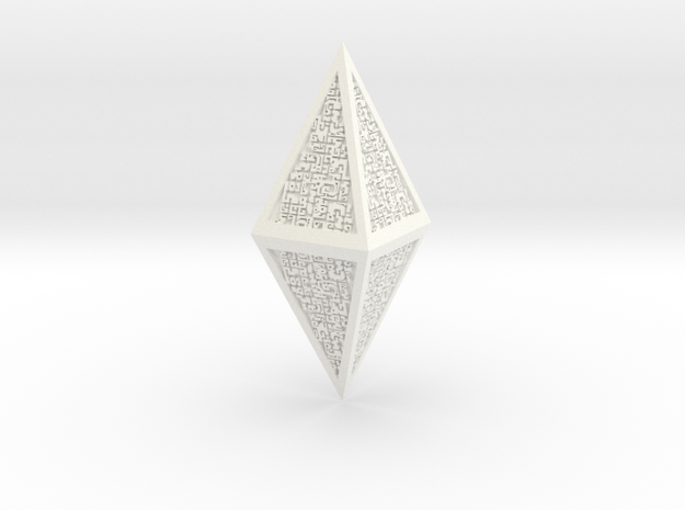 Hedron - Magic The Gathering  in White Processed Versatile Plastic