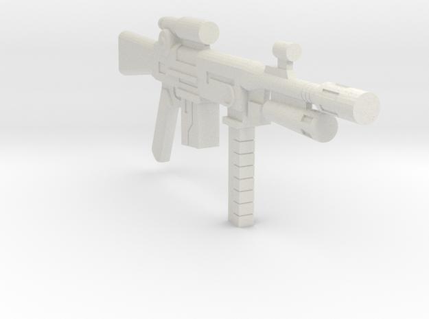 1/18 assault rifle grenade launcher in White Natural Versatile Plastic