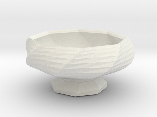 Sake Cup 01 in White Natural Versatile Plastic