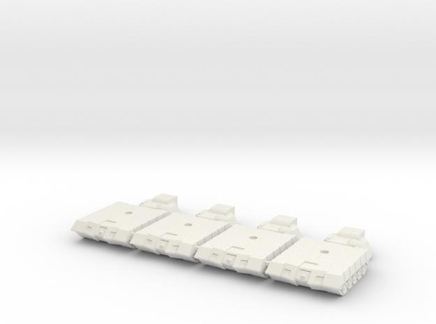 Alacran Light Tank Short Range Missiles in White Natural Versatile Plastic