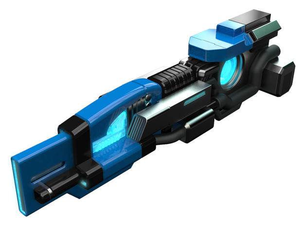 GroundShock Exclusive Weapon: Charge Beam in Natural Sandstone