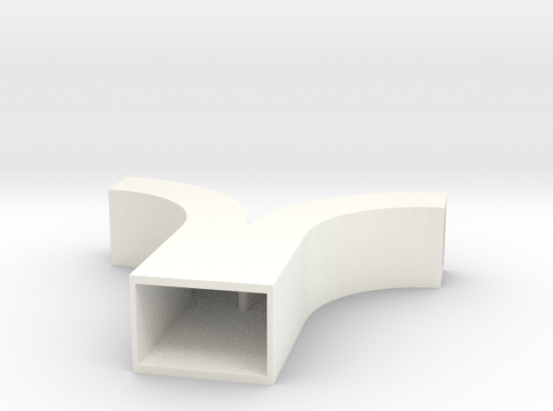 Duct Symmetrical Wye in White Processed Versatile Plastic