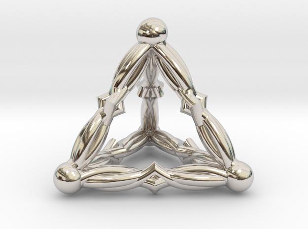 VELVET DREAMS (3D pendant) in Rhodium Plated