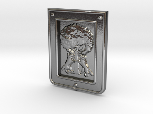 Borbolla Pendant in Polished Silver