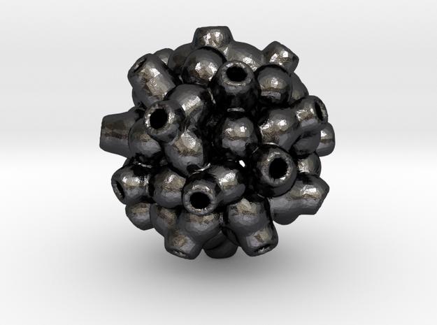 Metaball pendant in Polished Grey Steel