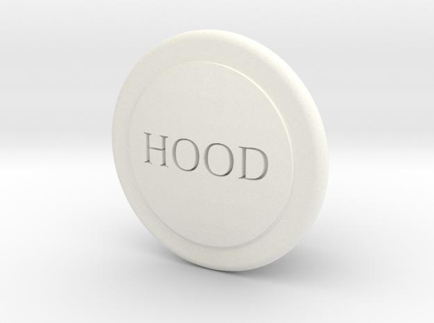 Fj Hood Release Knob in White Processed Versatile Plastic