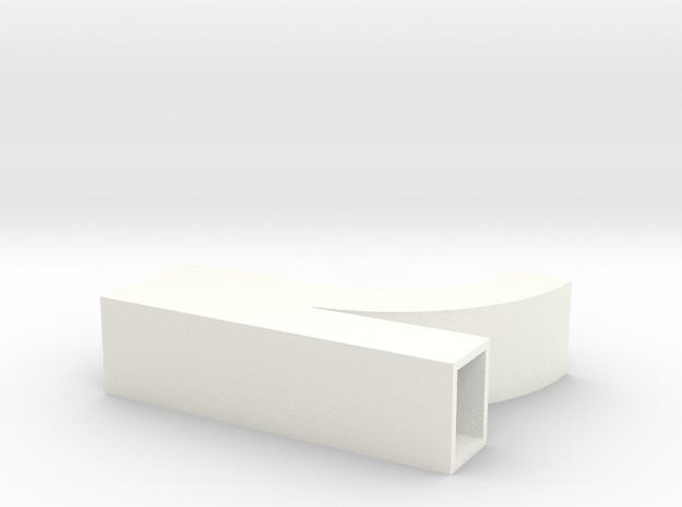 Parallel Flow Branch in White Processed Versatile Plastic