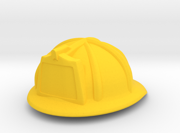 American Fire Helmet (tbn) in Yellow Strong & Flexible Polished