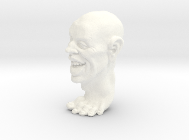 Foot Guy Solid 1'' in White Processed Versatile Plastic