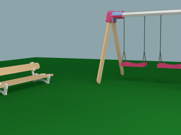 Popsicle Park 3d printed