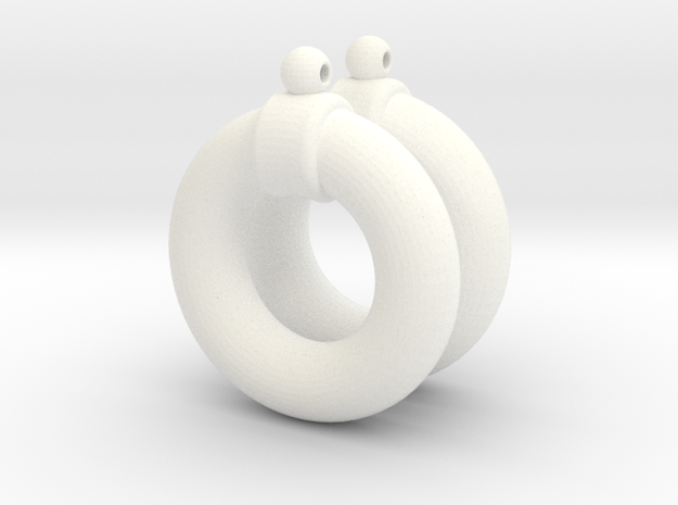 Shadi's Earrings (Yu-gi-oh!) in White Processed Versatile Plastic