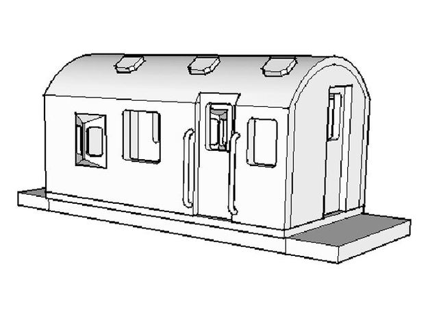 FH Guards Van, New Zealand, (NZ120 / TT, 1:120) in Frosted Ultra Detail
