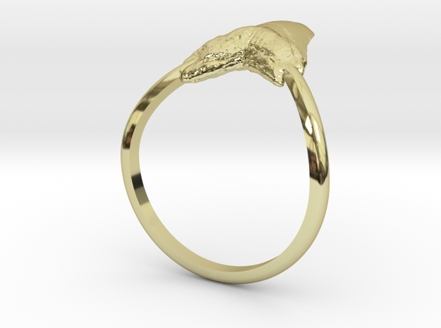 Shark Tooth Pinky Ring in 18k Gold