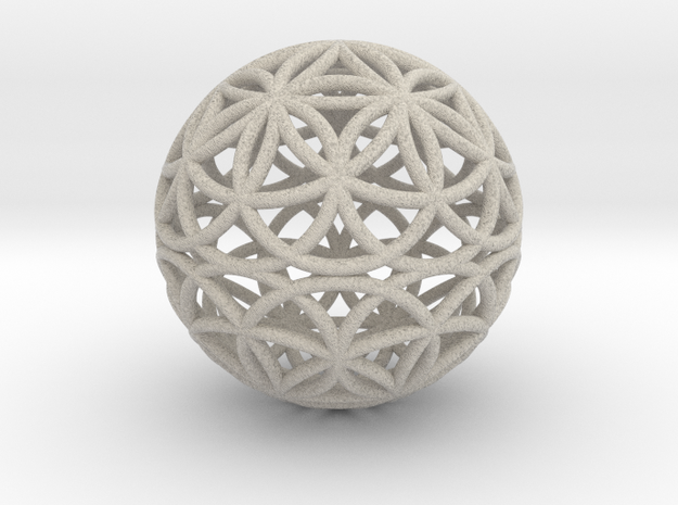 Special Edition 88mm Thick Flower Of Life in Sandstone