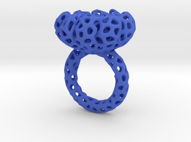 CORAL#02 ring in Blue Processed Versatile Plastic: 7 / 54
