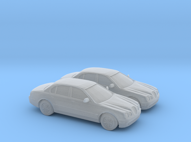 1/200  2X 1998 Jaguar S Type in Smooth Fine Detail Plastic