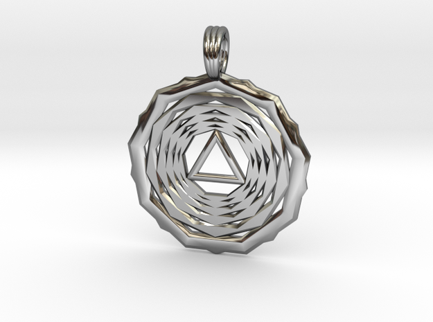 SOLAR VORTEX in Premium Silver