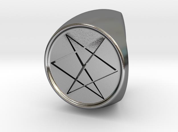 Custom Signet Ring 10 in Polished Silver