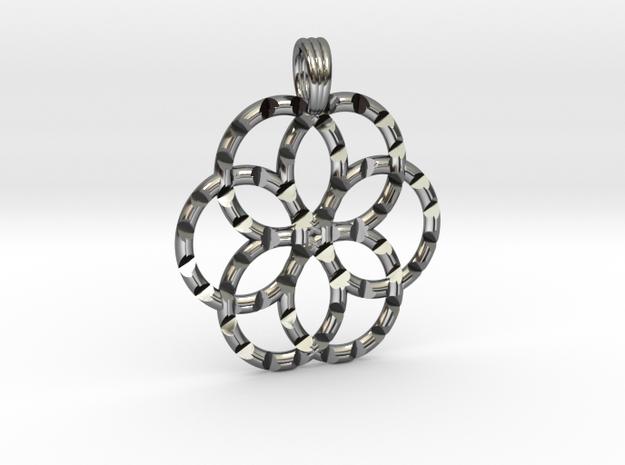 GALAXY FLOWER SIX in Premium Silver