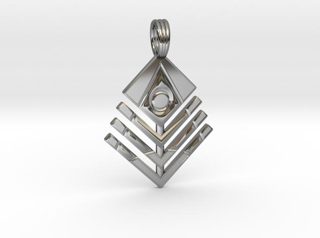 COSMIC CHEVRON in Premium Silver