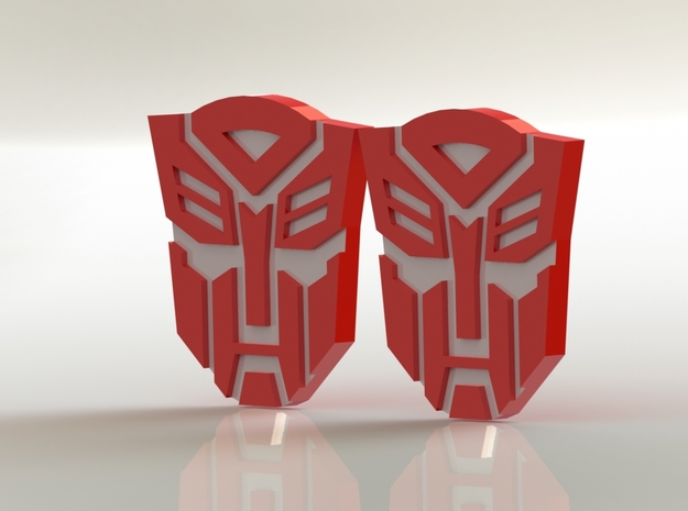 Masterpiece MP-10 Shoulder Symbols 3d printed