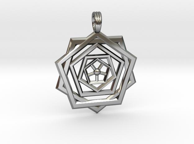 PENTAGON RIPPLES in Premium Silver
