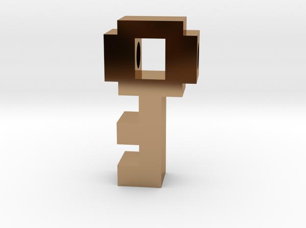 8 Bit Key in Polished Brass