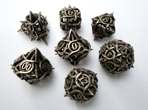 Thorn Dice Set with Decader, 7 Piece Die Set