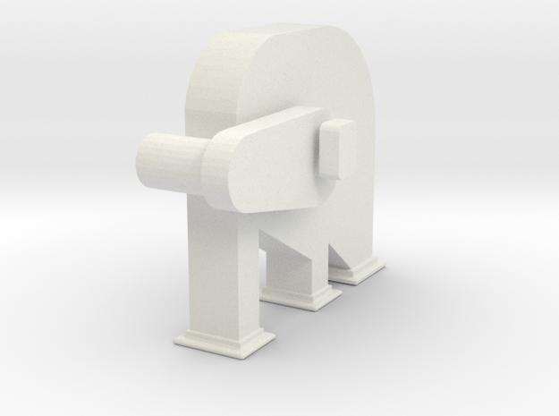 'S Scale' - Bucket Elevator Head in White Natural Versatile Plastic