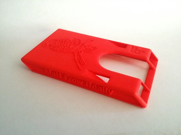 """Business Card Holder 3.5"""" x 2"""" in Red Processed Versatile Plastic"""