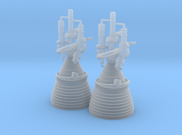 J-2 Engines (1:70 Set of 2) in Smooth Fine Detail Plastic