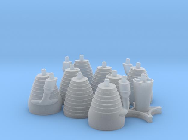 H-1 Engines (1:70 Saturn I & IB) SA-1 thru SA-202 in Smooth Fine Detail Plastic