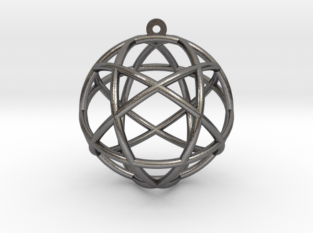 "Penta Sphere Pendant 1.5"" in Polished Nickel Steel"