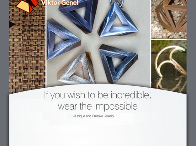 Impossible Pendant! 3d printed Wish to look incredible - wear the impossible!