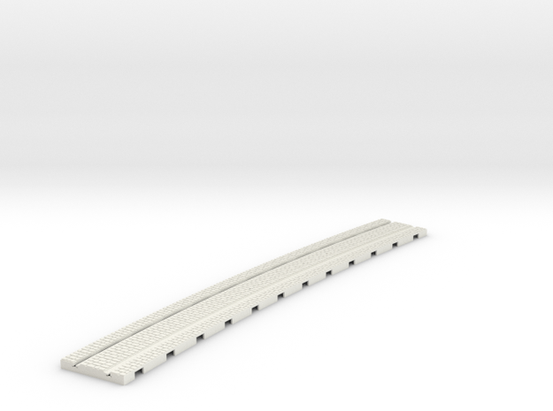 P-165stw-curved-1219r-tram-track-12d-100-w-1a in White Natural Versatile Plastic