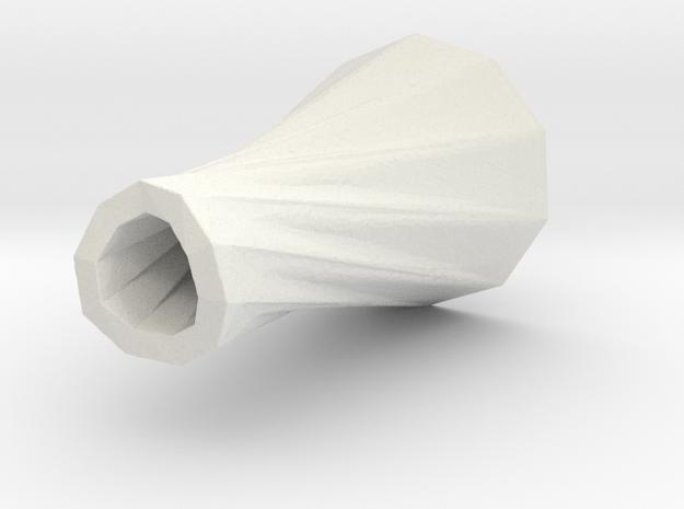 1 vase dress (h-70mm) in White Natural Versatile Plastic