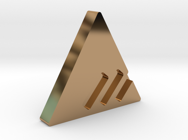 New Monarchy Personal Emblem in Polished Brass