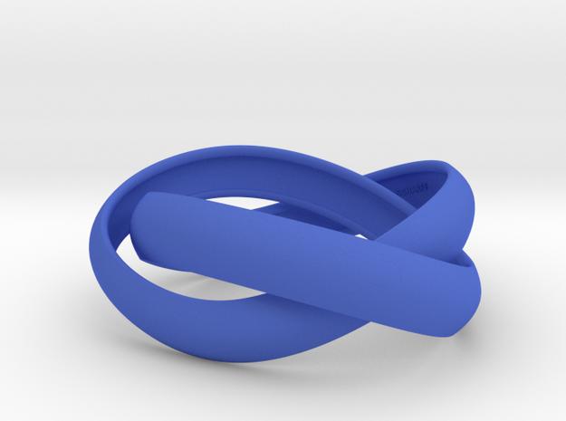Double Swing Strait Bracelet M 61 in Blue Strong & Flexible Polished