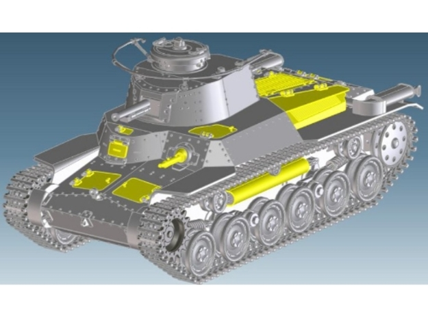 1:16scale TYPE97 TANK  All Hatches V1.2 in White Strong & Flexible Polished